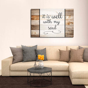 Well With My Soul Canvas Wall Art - Inspiration