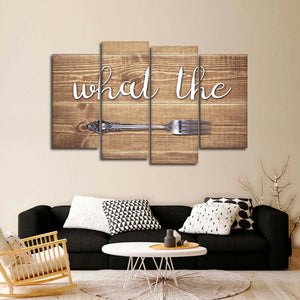 What The Fork Multi Panel Canvas Wall Art - Kitchen