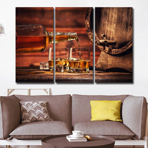 Whiskey Multi Panel Canvas Wall Art - Whiskey