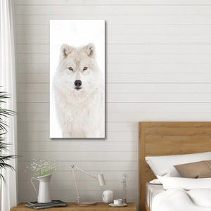 White Arctic Wolf Multi Panel Canvas Wall Art - Wolf