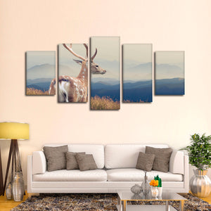 White Tale Multi Panel Canvas Wall Art - Hunting