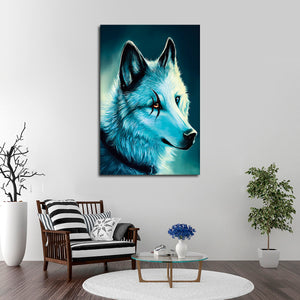 Scarred Wolf Multi Panel Canvas Wall Art - Wolf