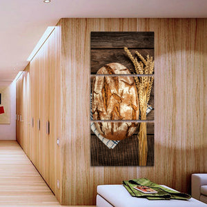 Whole Wheat Multi Panel Canvas Wall Art - Kitchen