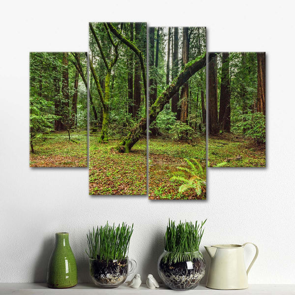 Wild Forest Multi Panel Canvas Wall Art