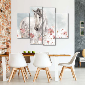 Wild Horses I Multi Panel Canvas Wall Art - Animals