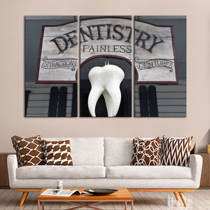 Wild West Dentist Multi Panel Canvas Wall Art - Dental