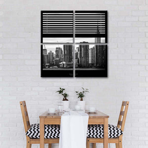 Window To New York Multi Panel Canvas Wall Art - City
