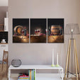 Wine Barrels Multi Panel Canvas Wall Art