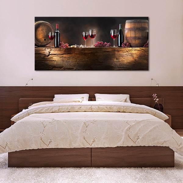 Wine Barrel Wall Art wine barrels multi panel canvas wall art – elephantstock