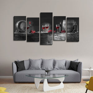 Wine Barrels Pop Multi Panel Canvas Wall Art - Winery