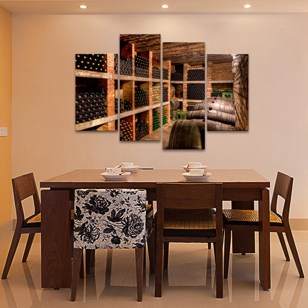 Wine Cellar Multi Panel Canvas Wall Art