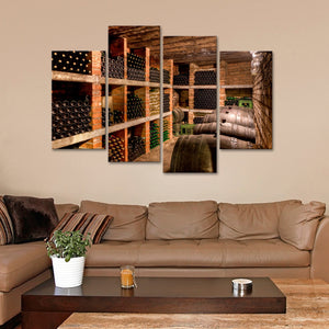 Wine Cellar Multi Panel Canvas Wall Art - Winery