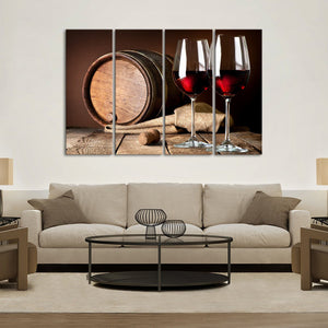 Wine Fusion Multi Panel Canvas Wall Art - Winery