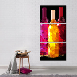Wine Splash Multi Panel Canvas Wall Art - Winery