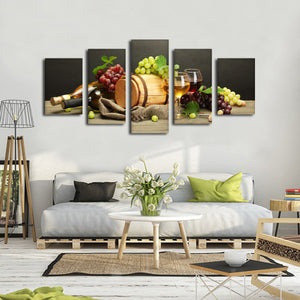 Wine Blend Multi Panel Canvas Wall Art - Winery