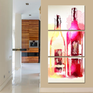 Wine In Color Multi Panel Canvas Wall Art - Winery