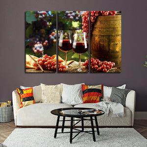 Wine Pairings Multi Panel Canvas Wall Art - Winery