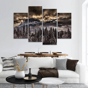 Winter Weekend Multi Panel Canvas Wall Art - Nature