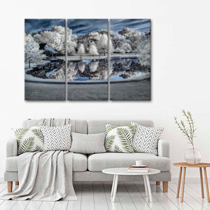 Winter Wonderland Multi Panel Canvas Wall Art - Nature