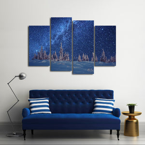 Winter Season Multi Panel Canvas Wall Art - Astronomy