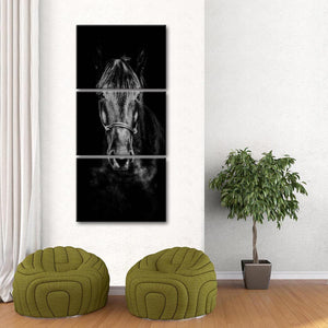 Wise Horse Multi Panel Canvas Wall Art - Horse