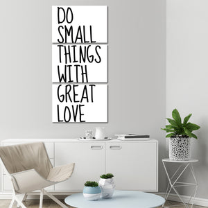 With Great Love Multi Panel Canvas Wall Art - Inspiration