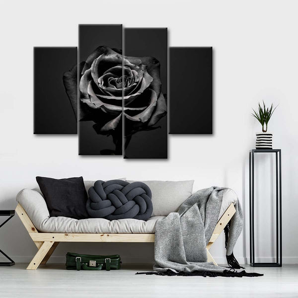 Withered Rose Multi Panel Canvas Wall Art
