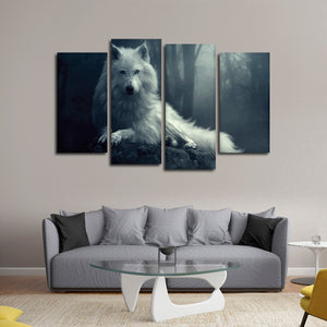 Wolf Gaze Multi Panel Canvas Wall Art - Wolf