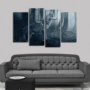Canis Lupus Multi Panel Canvas Wall Art - Wolf