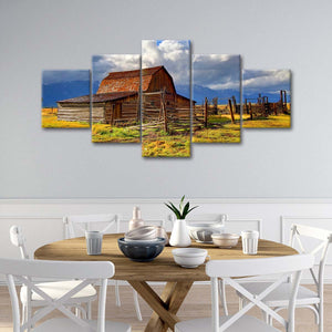 Wooden Barn Multi Panel Canvas Wall Art - Western
