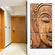 Wooden Buddha Multi Panel Canvas Wall Art