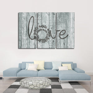 Wooden Love Sign Multi Panel Canvas Wall Art - Relationship