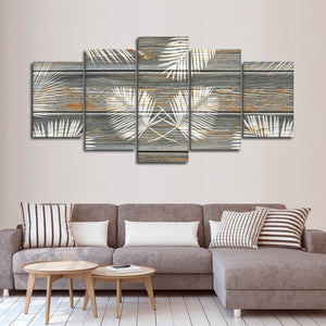 Wooden Palms Multi Panel Canvas Wall Art - Botanical