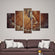 Wooden Texture Multi Panel Canvas Wall Art