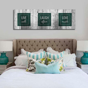 Words To Live By Multi Panel Canvas Wall Art - Inspiration