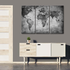 World Map I Multi Panel Canvas Wall Art - World_map
