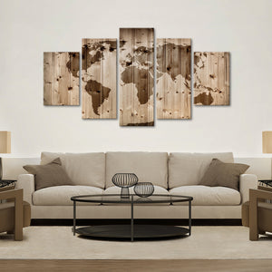 World Map Wall Multi Panel Canvas Wall Art - World_map
