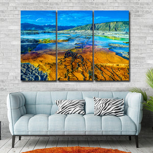 Yellowstone Multi Panel Canvas Wall Art - Nature