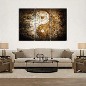 Yin-Yang Multi Panel Canvas Wall Art - Symbol