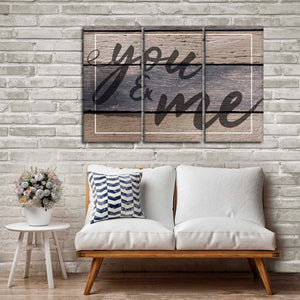 You And Me Multi Panel Canvas Wall Art - Relationship