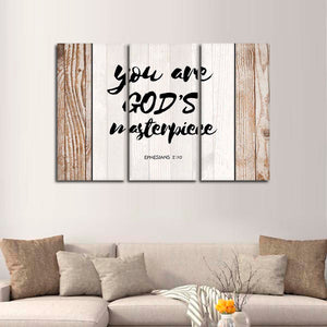 You Are Gods Masterpiece Multi Panel Canvas Wall Art - Religion