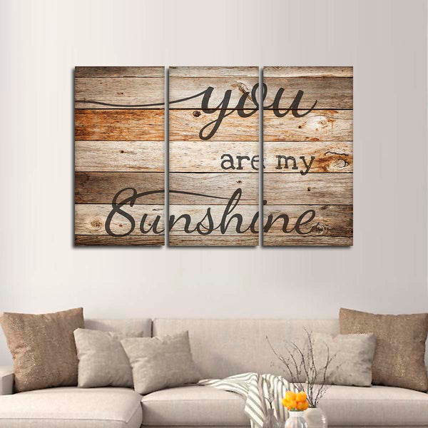 You Are My Sunshine Multi Panel Canvas Wall Art
