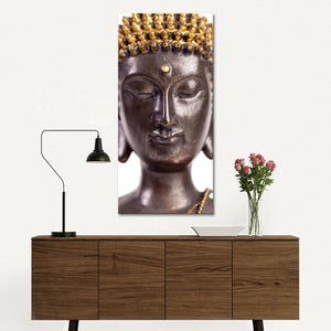 Zen Statue Multi Panel Canvas Wall Art - Buddhism
