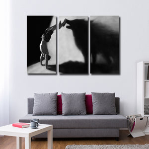 Zero To Hero Multi Panel Canvas Wall Art - Wolf