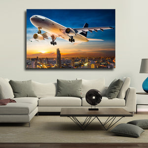 Business Plane Multi Panel Canvas Wall Art - Airplane