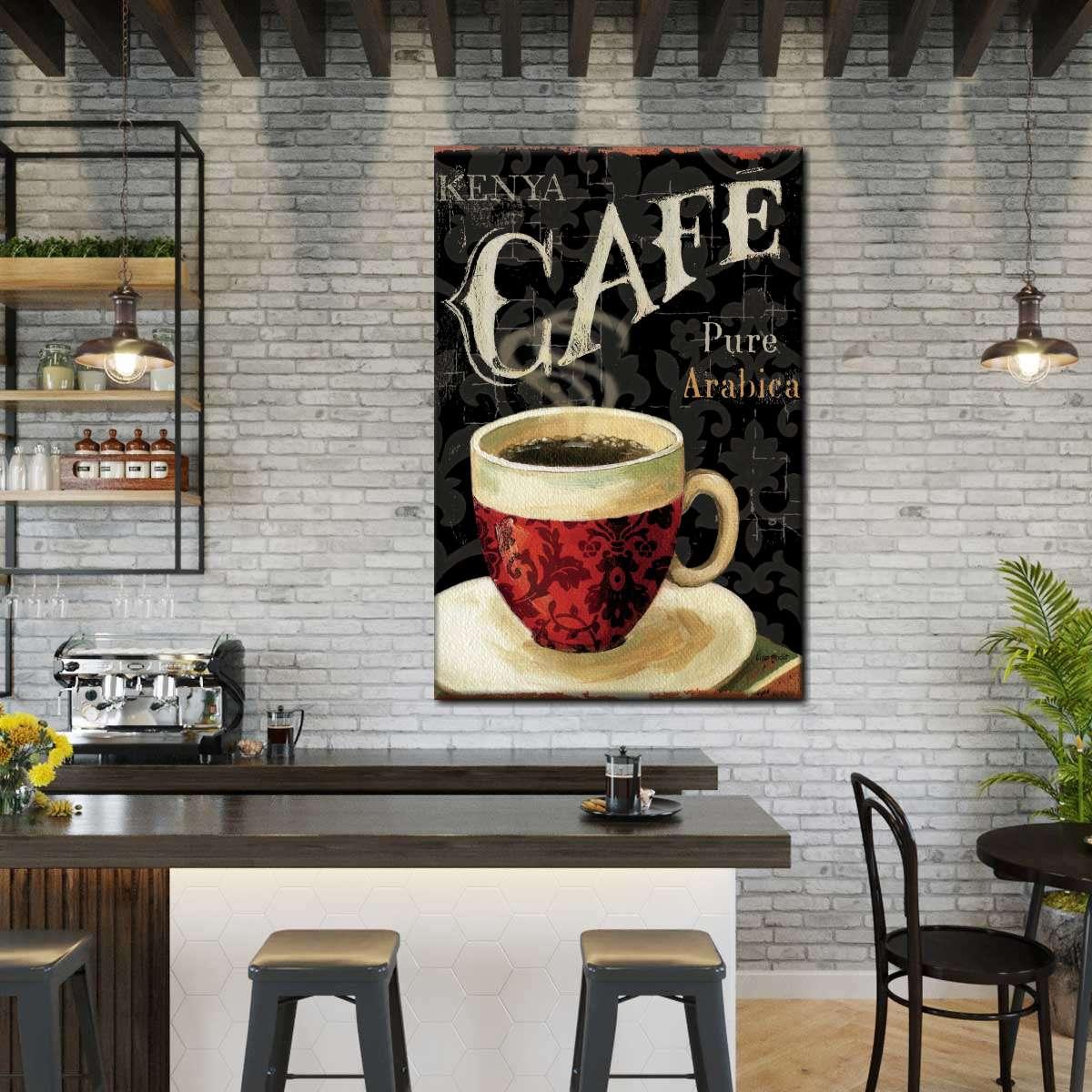 Today's Coffee I Multi Panel Canvas Wall Art
