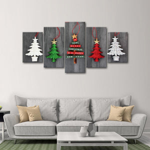 Christmas Trees Multi Panel Canvas Wall Art - Xms