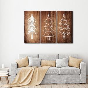 White Christmas Multi Panel Canvas Wall Art - Xms
