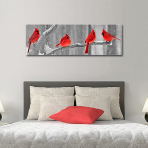 Cardinal Birds Multi Panel Canvas Wall Art - Xms
