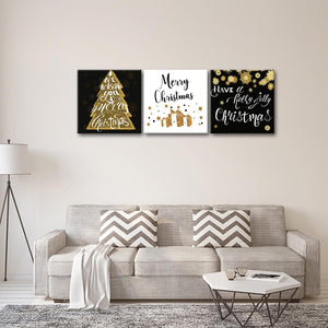 Christmas Wishes Multi Panel Canvas Wall Art - Xms